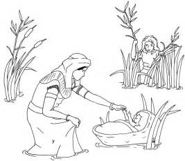 baby moses coloring page free printable baby moses coloring pages cooloring