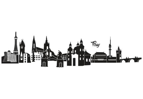 Wall Stickers London prag skyline