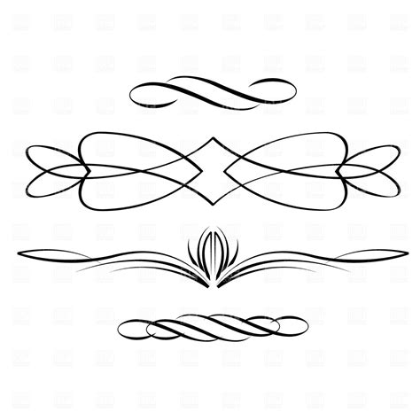 Calligraphic scrolls Royalty Free Vector Clip Art Image #1869 ? RFclipart