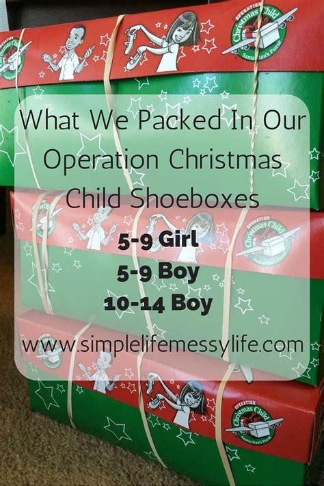 operation christmas child shoebox ideas