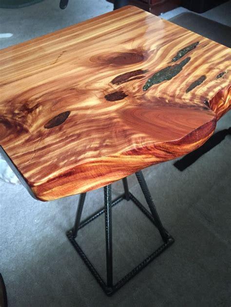 cedar wood  edge  table  epoxy inlay rustic