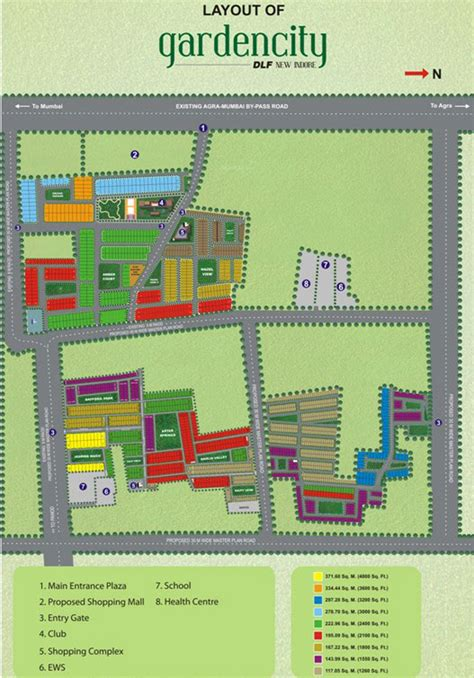 layout plan of garden city 1264 sq ft plot for sale in dlf garden city plot manglia