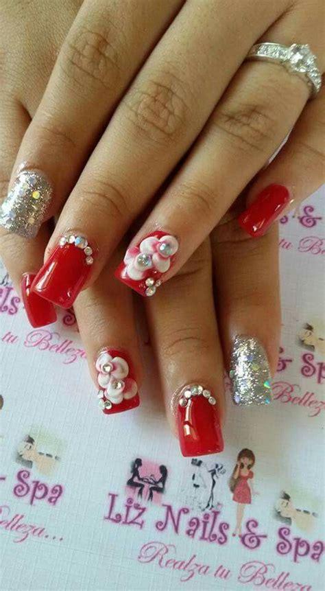 imagenes de uñas acrilicas puntiagudas las 25 mejores ideas sobre u 241 as acrilicas rojas en
