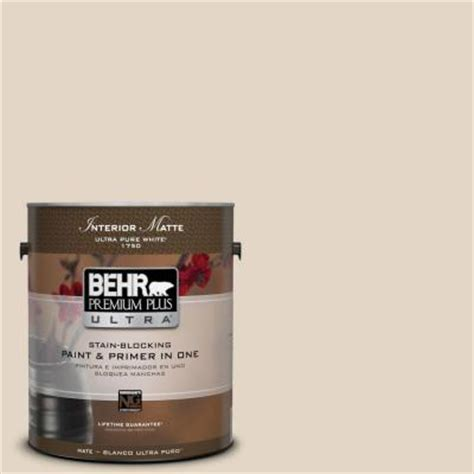 behr premium plus ultra 1 gal n270 1 high style beige matte interior paint 175001 the home depot