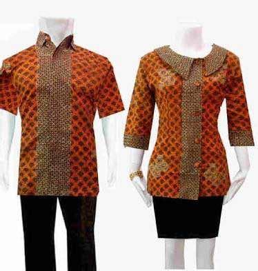 Kain Batik Murah Batik Sogan Tolet Handprint 1 seragam batik kombinasi polos yang serasi
