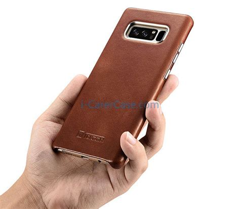Leather Auto Focus Original Samsung Galaxy Note 8 Softcase Back icarer samsung galaxy note 8 vintage genuine leather cover