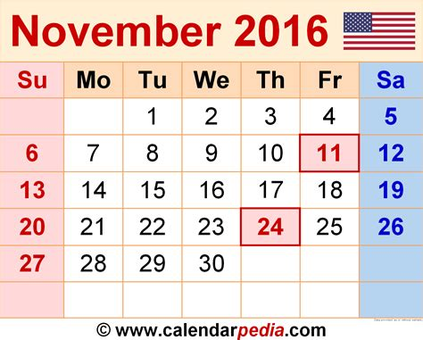 Calendar Of November 2016 November 2016 Calendar 2017 Printable Calendar