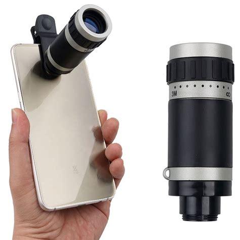 Lensa Telezoom 8x Smartphone lensa tele zoom 8x untuk smartphone gray silver