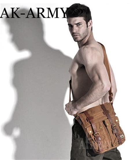 Cowhide Leather Bag Ipad2 Mens Canvas Shoulder Bag Men S Canvas Satchel