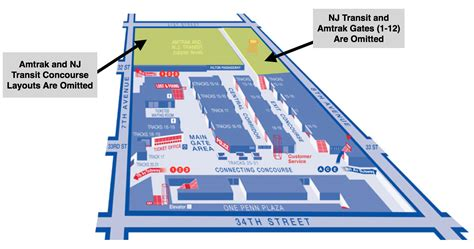 Penn Station Interior Map by Penn Station Concourse Map Car Interior Design