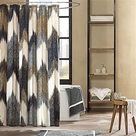 bed bath and beyond alpine buy ink ivy alpine printed shower curtain in navy from bed
