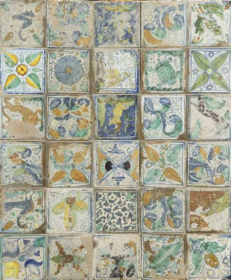 Italian Tiles A Italian Maiolica Tile Panel 15th Century Christie S