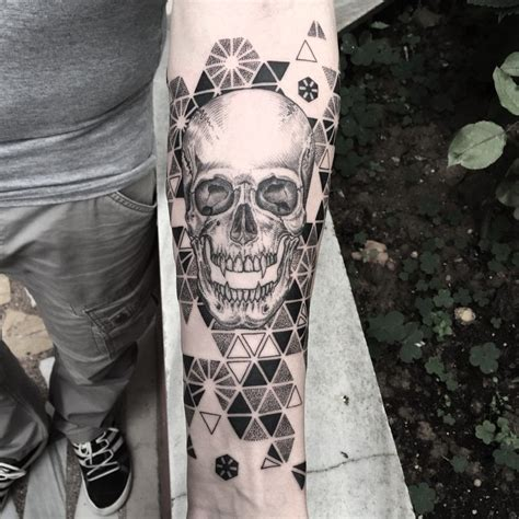 tattoo geometric skull geometry pattern background skull tattoo tattoo
