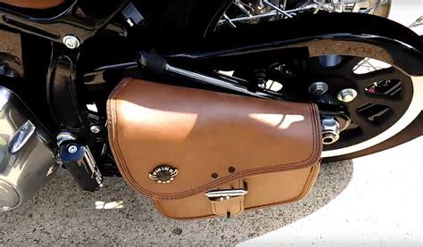viking swing arm bag viking dellingr brown softail motorcycle swing arm bag