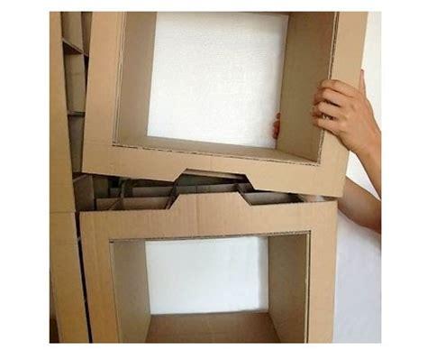 librero reciclado de carton revista digital apuntes de arquitectura muebles de cart 243 n
