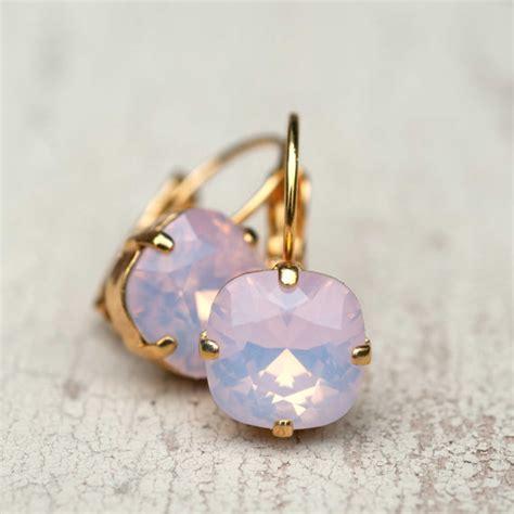 buy earrings vintage estate wedding ballet pink opal earrings gold estate style vintage