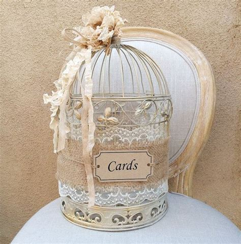 Gift Card Holder Wedding - birdcage card holder shabby chic birdcage wedding gift box rustic chic card holder