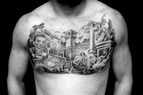 dope chest tattoos by mister