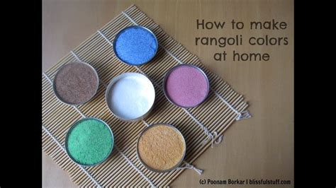 how to make colors how to make rangoli colors at home diy rangoli colors