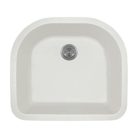 25 Undermount Kitchen Sink by Mr Direct Undermount Composite 25 In Single Bowl Kitchen