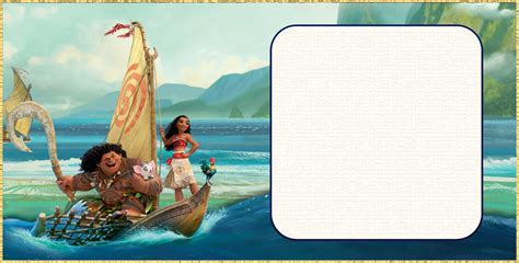 Moana Card Template by Free Invitation Templates