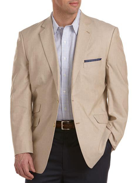 men dress casual sport coat oak hill men s big and tall continuous comfort chambray
