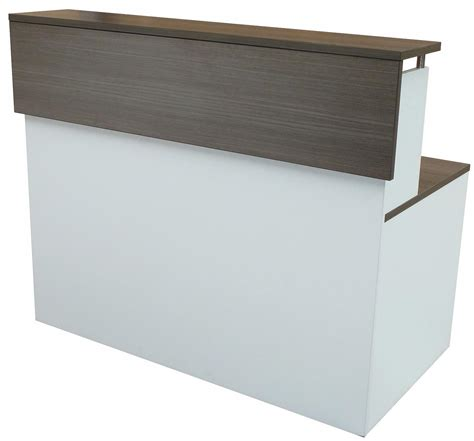 Reception Desk With Counter Multi Level Glass Top Custom Counter Reception Desk