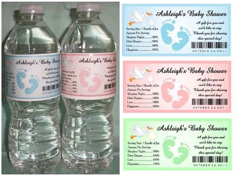 how to create baby shower water bottle labels baby