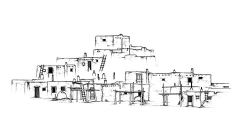 pueblo house coloring page josefina unit study america s southwest frontier