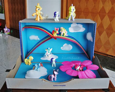 How To Make A Shoe Box Out Of Paper - my pony magic rainbow world out of a shoe box