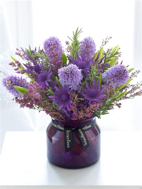 Purple Flower Vase by Pin By Burgess On Wedding Flowers