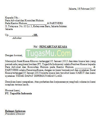 format surat kuasa advokat contoh surat kuasa advokat gamis murni