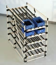 flow rack shelving creform develops height adjust angle adjust storage flow