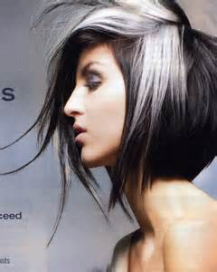 hair with silver highlights long a line hair cut long hairstyles