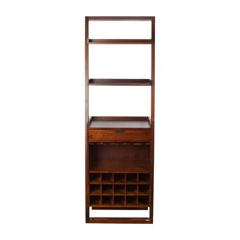 33 crate barrel wood leaning bookshelf bar storage