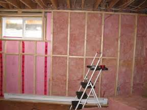 endearing insulating basement walls photo of study room