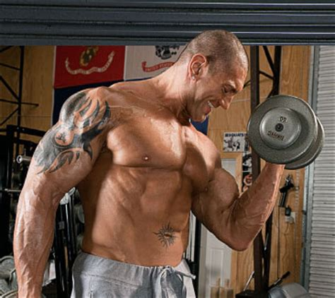 batista bench press dave batista workout routine and diet plan