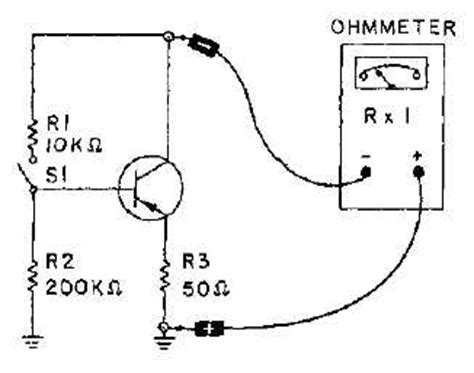 transistor testing testing transistors with an ohmmeter