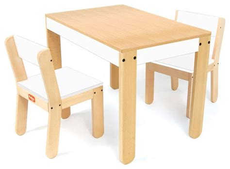 Tables For Toddlers by P Kolino One S Table And Chair Set In White