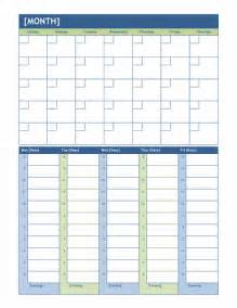 monthly planning calendar template monthly and weekly planning calendar office templates