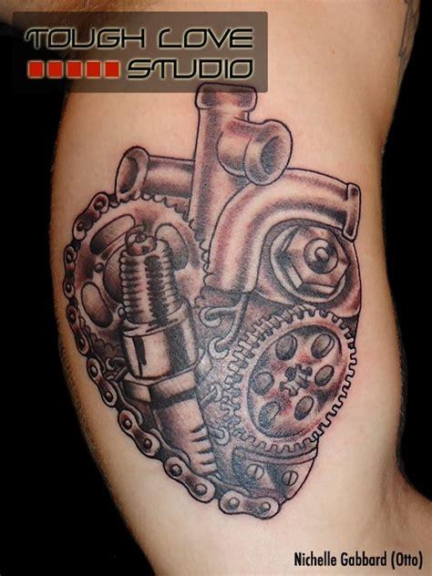 turbocharger tattoo fail 推荐一款机械心脏纹身图案