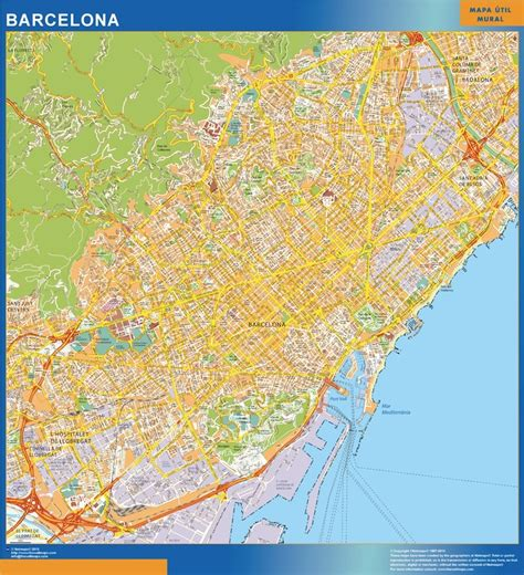 map of barcelona our barcelona wall map wall maps mapmakers offers poster laminated or magnetic framed maps
