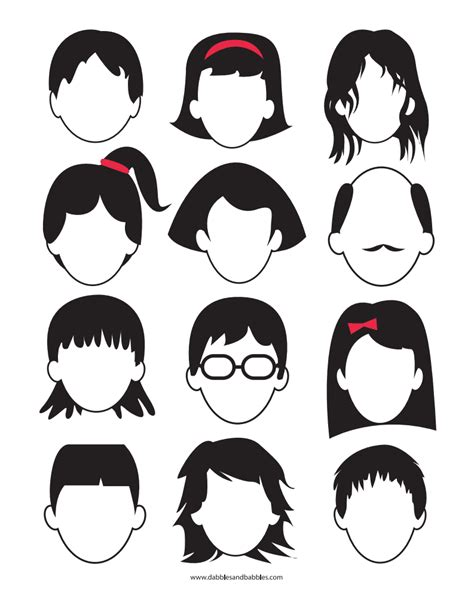 blank faces coloring page 20 dabbles babbles blank faces webad pdf family fun pinterest pdf and