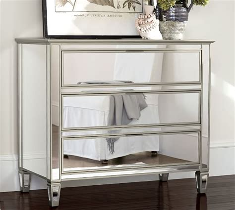 mirrored bedroom dressers park mirrored dresser pottery barn