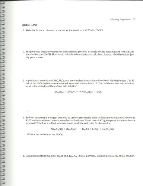 sle of khp contaminated with nacl solved write the balanced chemical equation for the react