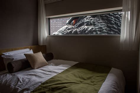 room tokyo tokyo s godzilla hotel offers rooms with a view of a breathing lizard photos