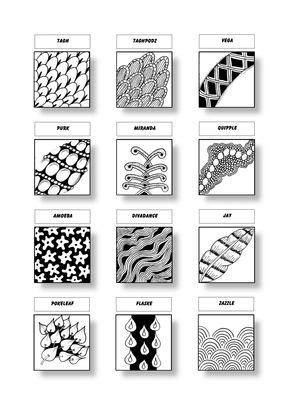zentangle pattern vega zentangle pattern sheet 14 patterns tagh taghpodz vega