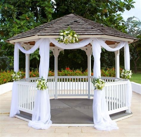 Backyard Wedding Gazebo Best 25 Gazebo Wedding Decorations Ideas On