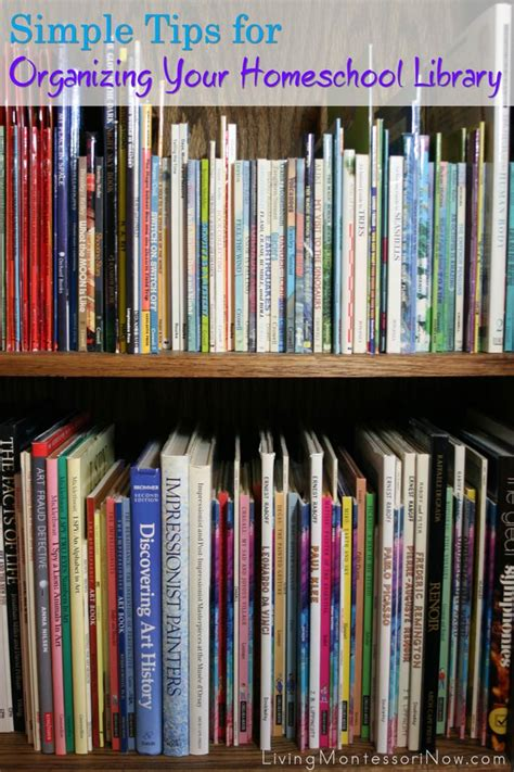 tips for organizing simple tips for organizing your homeschool library