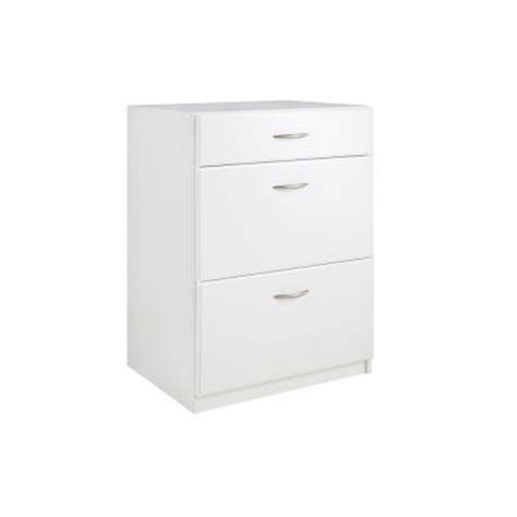 closetmaid dimensions 3 drawer laminate base cabinet in